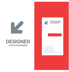arrow down left grey logo design and business vector image
