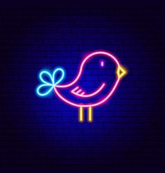 bird neon sign vector image