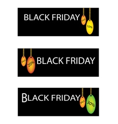 Black Friday Sale Label with Percentages Discount vector image vector image