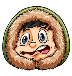 Boy getting cold vector image