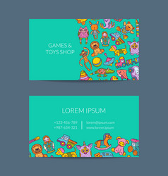 Business card template for shop vector