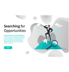 Business searching for opportunities online page vector