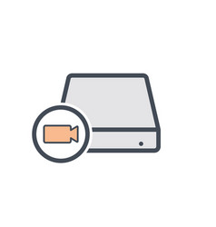 camera disk drive hard storage video icon vector image