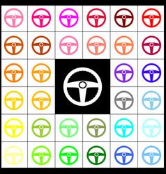 car driver sign felt-pen 33 colorful vector image
