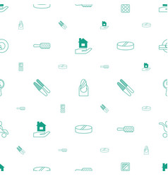 Care icons pattern seamless white background vector
