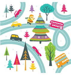 Christmas highway vector