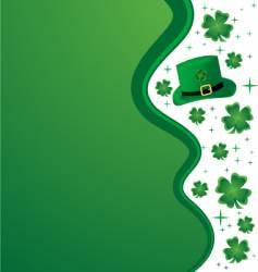 clover border vector image