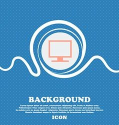 Computer widescreen monitor sign icon Blue and vector