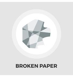 Creazy paper flat icon vector