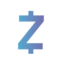 cryptocurrency zcash symbol isolated icon vector image