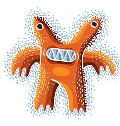 cute Halloween character ogre fictitious crazy vector image