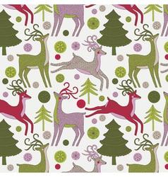 deer xmas print vector image