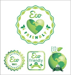 Eco Labels Bio template Ecology theme vector image vector image