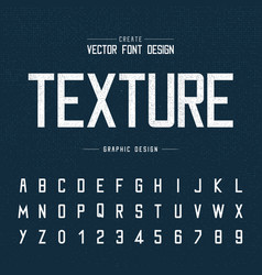 font and alphabet chalk letter design and vector image