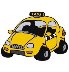 Funny taxi vector