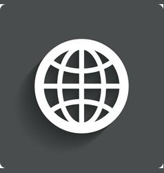 Globe earth icon Travel symbol vector