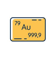 Gold rgb color icon vector