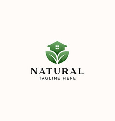 green house logo template isolated in white vector image