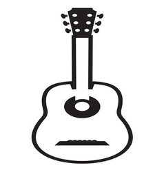 Guitar icon resize vector image