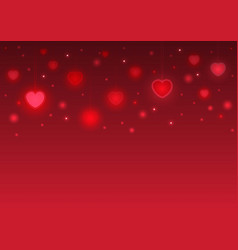 Happy valentines day card abstract pink color vector