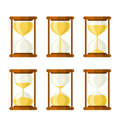hourglass retro icons set vector image vector image