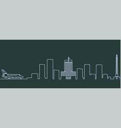 Houston single line skyline vector