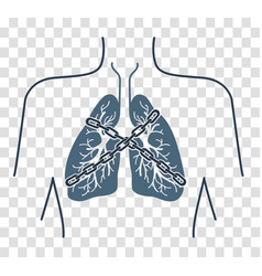 Icon chain-bound asthma vector