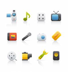 icon set entertainment vector image