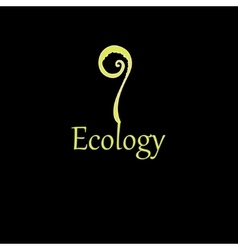 inscription plant ecology vector image