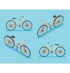 Isometric Bike Icon 3d Symbol Flat Design Template vector