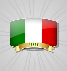 italian flag icon vector image
