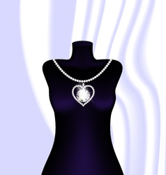 Jewel necklace vector