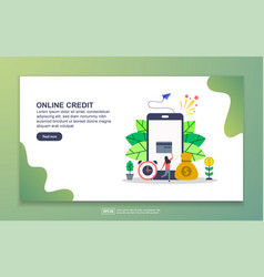 landing page template online credit modern vector image