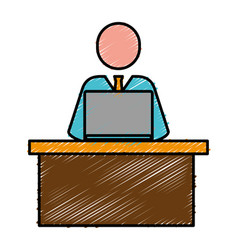 Lawyer man icon vector