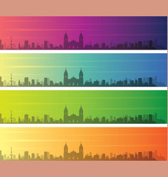 Lima multiple color gradient skyline banner vector
