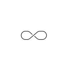 line infinite icon vector image