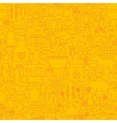 Line Yellow Barbecue Tile Pattern vector image
