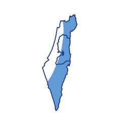 Map of israel vector