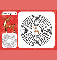 maze game for children cute cartoon worksheet vector image
