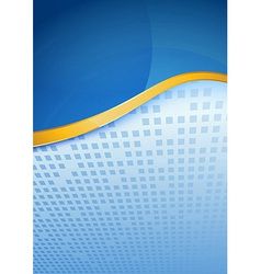 Modern blue folder golden border vector