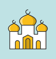 mosque or masjid filled outline icon vector image