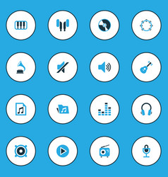 Multimedia colorful icons set collection of mute vector