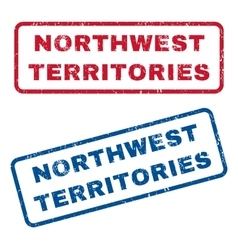 Northwest Territories Rubber Stamps vector image