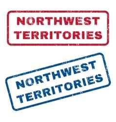 Northwest territories rubber stamps vector