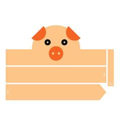 Pig headband vector