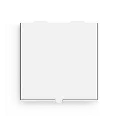 pizza box mockup isolated on white background vector image