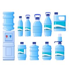 plastic water bottles cooler water bottle vector image