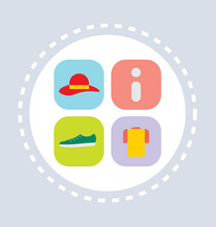 promotional clothes information shopping icon vector image