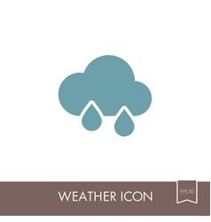 rain cloud icon meteorology weather vector image