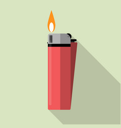 red gas lighter with fire vector image